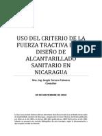 Uso Del Criterio de La Fuerza Tractiva en El Diseño de Alcantarillado Sanitario en Nicaragua r2_2012.01.05