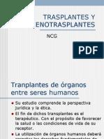 Trasplantes y Xenotrasplantes