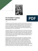 Russell, Bertrand - On Youthful Cynicism