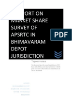 market share survey report of bhimavaram depot