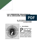 Corrientes Pedagogicas en La Educacion Colombiana