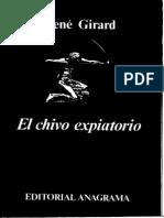 Girard El Chivo Expiatorio