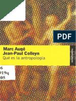 Auge - Colleyn - Que Es La Antropologia