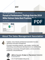 Pursuit of Performance Findings From the 2014 Miller Heiman Sales Best Practices Study