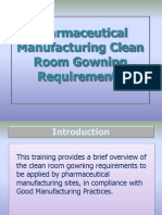 018 Clean Room Gowning Requirements