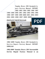 1982-2009 Yamaha Bravo 250 Snowmobile Service Repair Factory Manual INSTANT DOWNLOAD (1982 1983 1984 1985 1986 1987 1988 1989 1990 1991 1992 1993 1994 1995 1996 1997 1998 1999 2000 2001