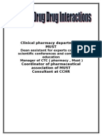 Top Ten Drug Drug Interactions