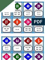 El Domino de Las Tablas de Multiplicar