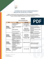 CURSO TALLER INTENSIVO DE CAPACITACIÓN EN BÚSQUEDA Y ANÁLISIS DEL ESTADO DE LA TÉCNICA / Escuela Nacional de Indecopi