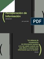 Recuperación de Información