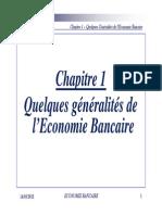 Economie Bancaire - Chapitre 1 Ppt - Quelques Generalites de l'Economie Bancaire Ugb Lea [Mode de Compatibilité]