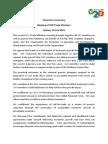 G20 TMM Chairman's Summary 19 July 2014