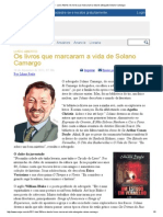ConJur - Livro Aberto_ Os Livros Que Marcaram a Vida Do Advogado Solano Camargo