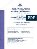 Manual on Station Level Training for Acquiring Rating NEW