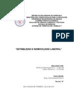 Trabajo - Tema 7 - Estabilidad Laboral