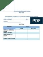 lista de cotejo para evaluar el taller de los elementos de la ecuacin lineal de primer grado