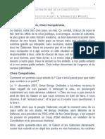 Déclaration en vue de la création du Front Uni de l'Opposition