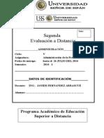 2da Evaluacion a Distancia Produccion_2014_2