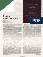 Slang and the City