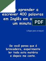 Aprenda 400 Palavras Em Inglês Em 1 Minuto