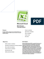 Tutorial 1-Excel Spreadsheet