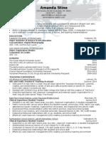 amanda stine resume july 2014