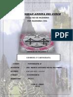 Informe de Geodesia y Cartografia