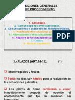 Disposiciones Generales Sobre Procedimiento