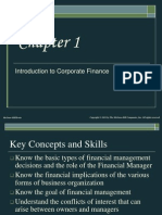 Corporate finance- chap 1