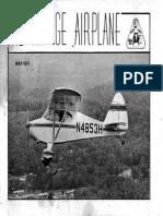 Vintage Airplane - May 1973