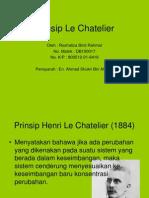 Power Point Prinsip Le Chatelier