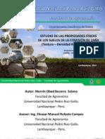 Estudio de Las Propiedades Físicas de Los Suelos _ Comision de Regantes Zaña_fag-unprg