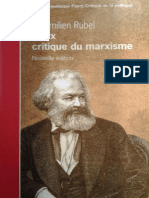 Rubel - Critique Du Marxisme (Extracto)