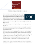 Responsible Business Policy