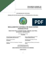 Reglamento General de Elecciones Federativas