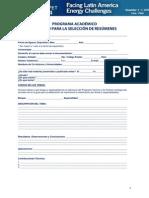 Formulario Academic Program