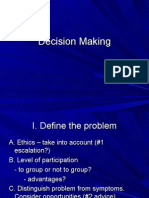 Decision Making & Creativity
