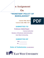 Monetary Policy of Bangladesh