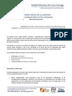 Informe anual de gestión 2013-2014