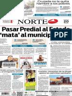 Periódico Norte edición del día 20 de julio de 2014