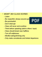 • Mgmt 383 Class Norms