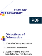 Orientation and Socialization