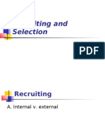 Recruiting and Selection