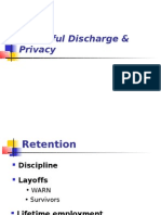 Wrongful Discharge Privacy1