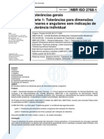NBR 2768-1 - Tolerancias Gerais