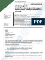 NBR 2768-2 - Tolerancias Gerais