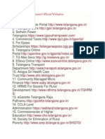Telangana Government Official Websites