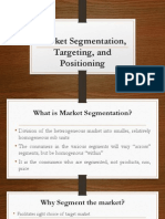 Market Segmentation Targeting and Positioning