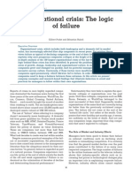 Organizational Crisis the Logic of Failure 01022005