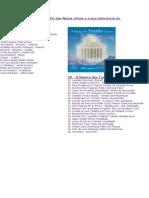 Listas das Músicas DOS MESTRES ASCENSOS E ARCANJOS